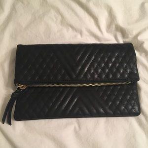 Madison west black clutch purse